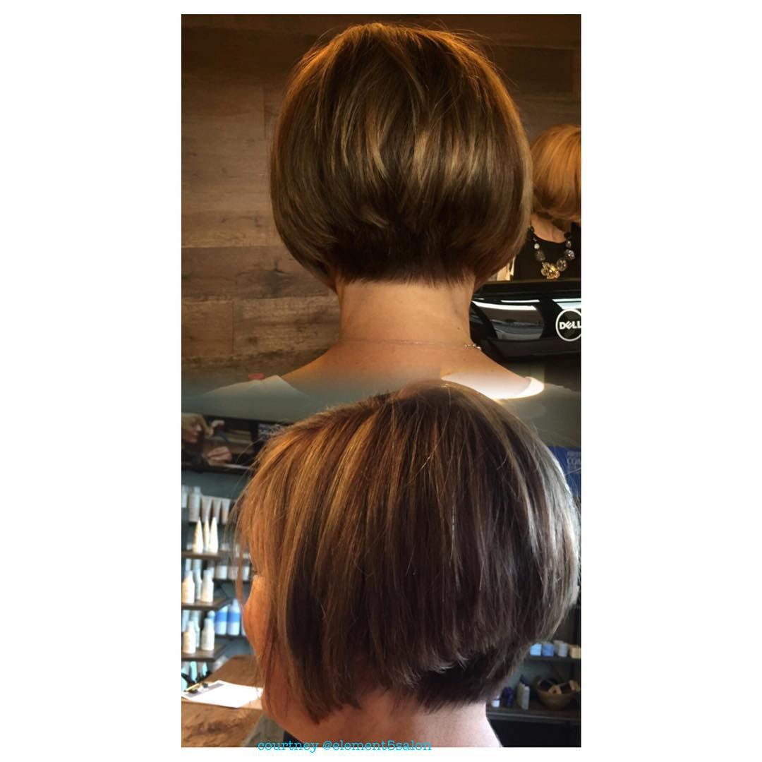 angled forward diagonal disconnected brunette bob | hair by