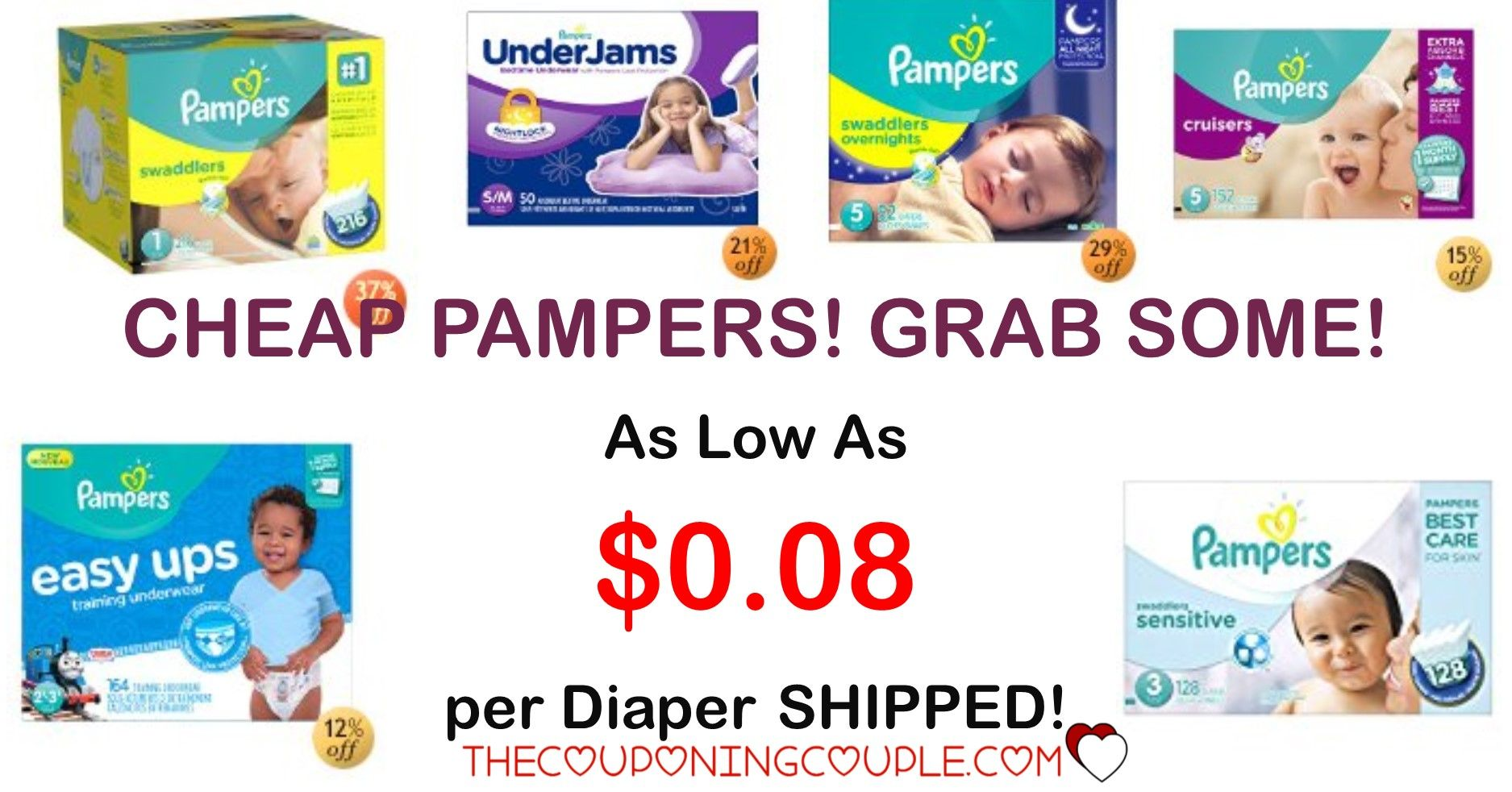 CHEAP Diapers Pampers Deals As Low as  per Diaper Shipped
