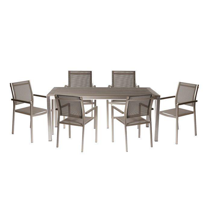 david 7 piece dining set pool furniture outdoor dining set 7 rh pinterest com
