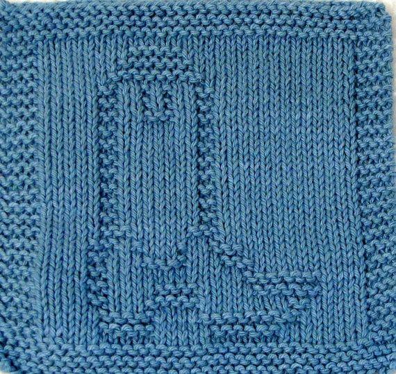 Knitting Cloth Pattern Cowboy Boot Pdf Dishcloth