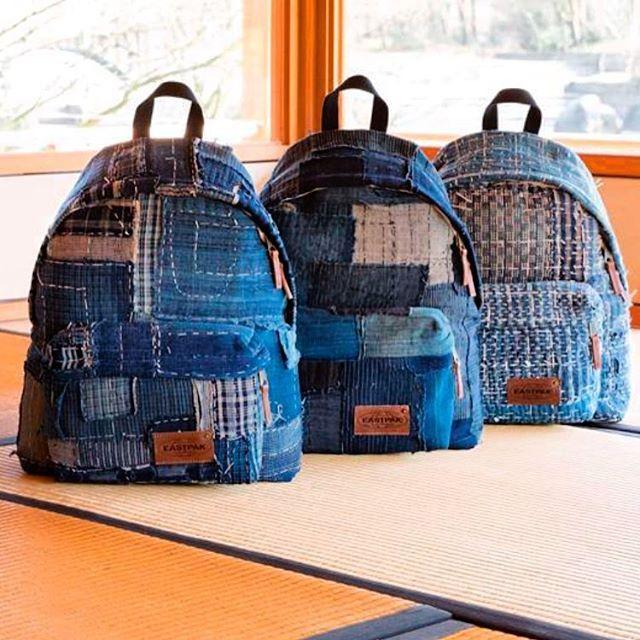 Limited edition @eastpak: made of authentic Japanese boro fabrics! Nice one @backtobackpr!  @eastpak_fr #japan #boro #eastpak #denim #jeans #blue #selvage #selvedge #authentic #denimheads #denimpeople #limitededition #limited #sashiko #fisherman #farmers