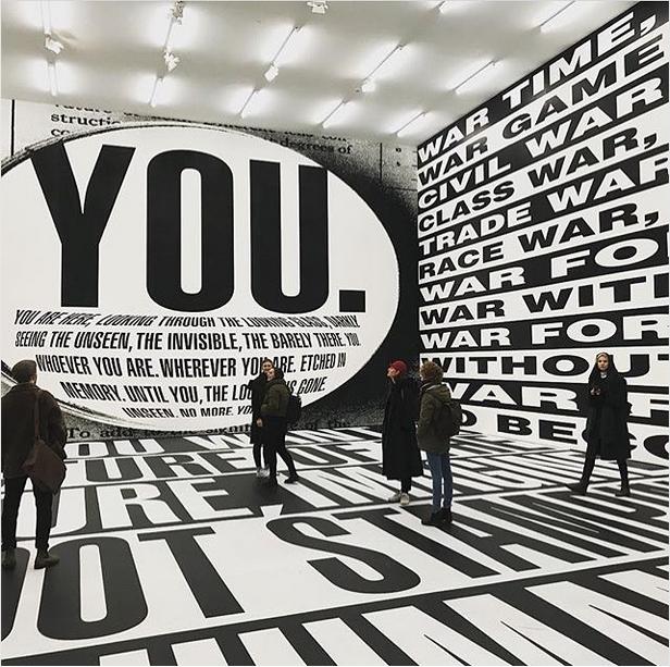 Barbara Kruger exhibition Berlin. #ausstellungsdesign #exhibition #design #typography #grafikdesign #graphicdesign #blackandwhite #minimalism #inspiration #idea #layout - Picture by sven voelker