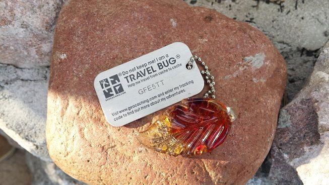 Geocaching: Travel bug example