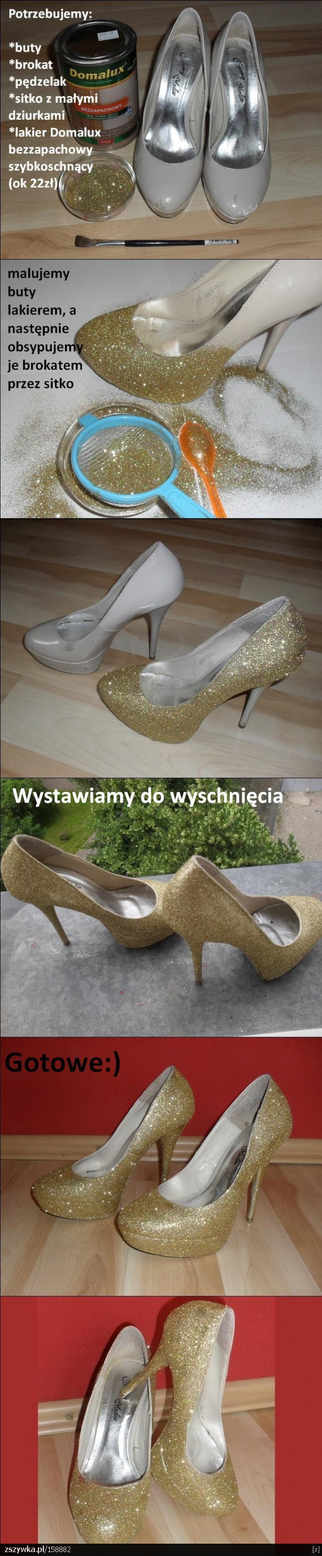Pin By Krolowa Rozu On Diy Diy Shoes Glittery Shoes Decorated Shoes