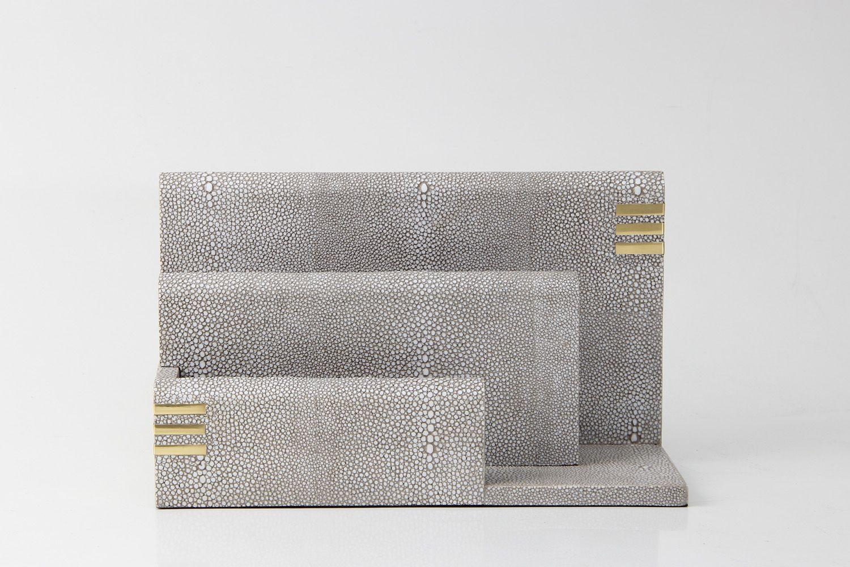 Barley shagreen letter rack Interior design home