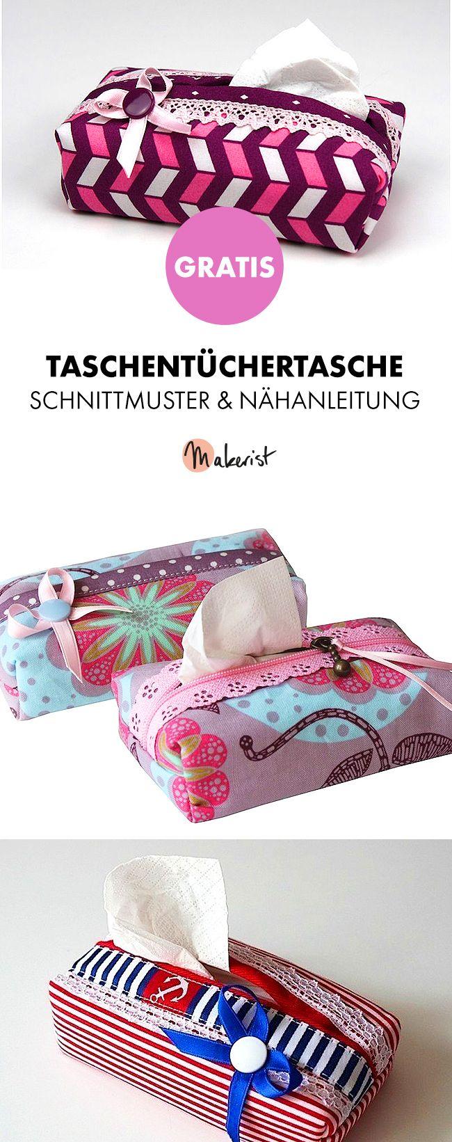 Gratis Anleitung: Taschentücher-Box selber nähen - Schnittmuster und ...