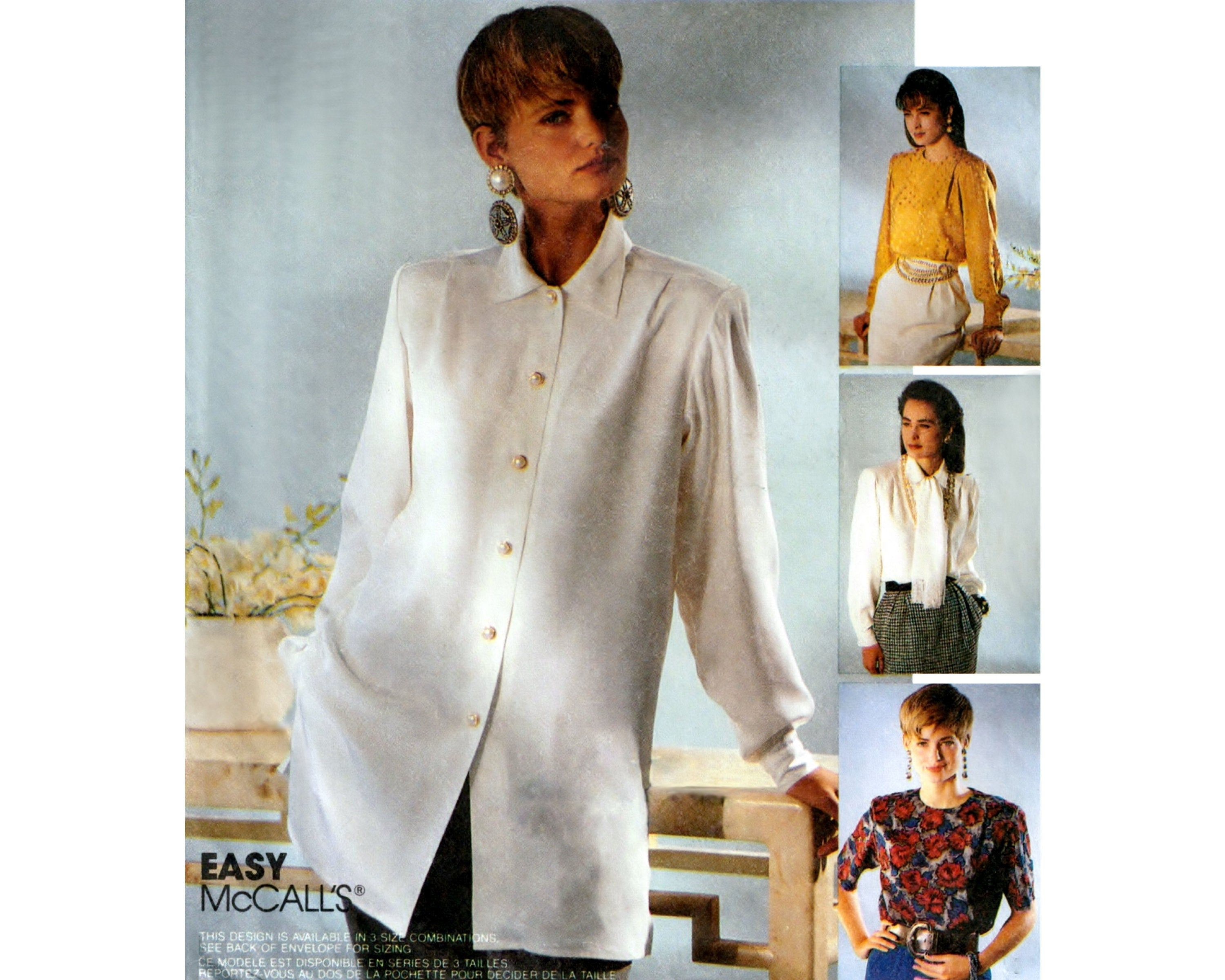 90s Tie Front Collarless Button Up Blouse