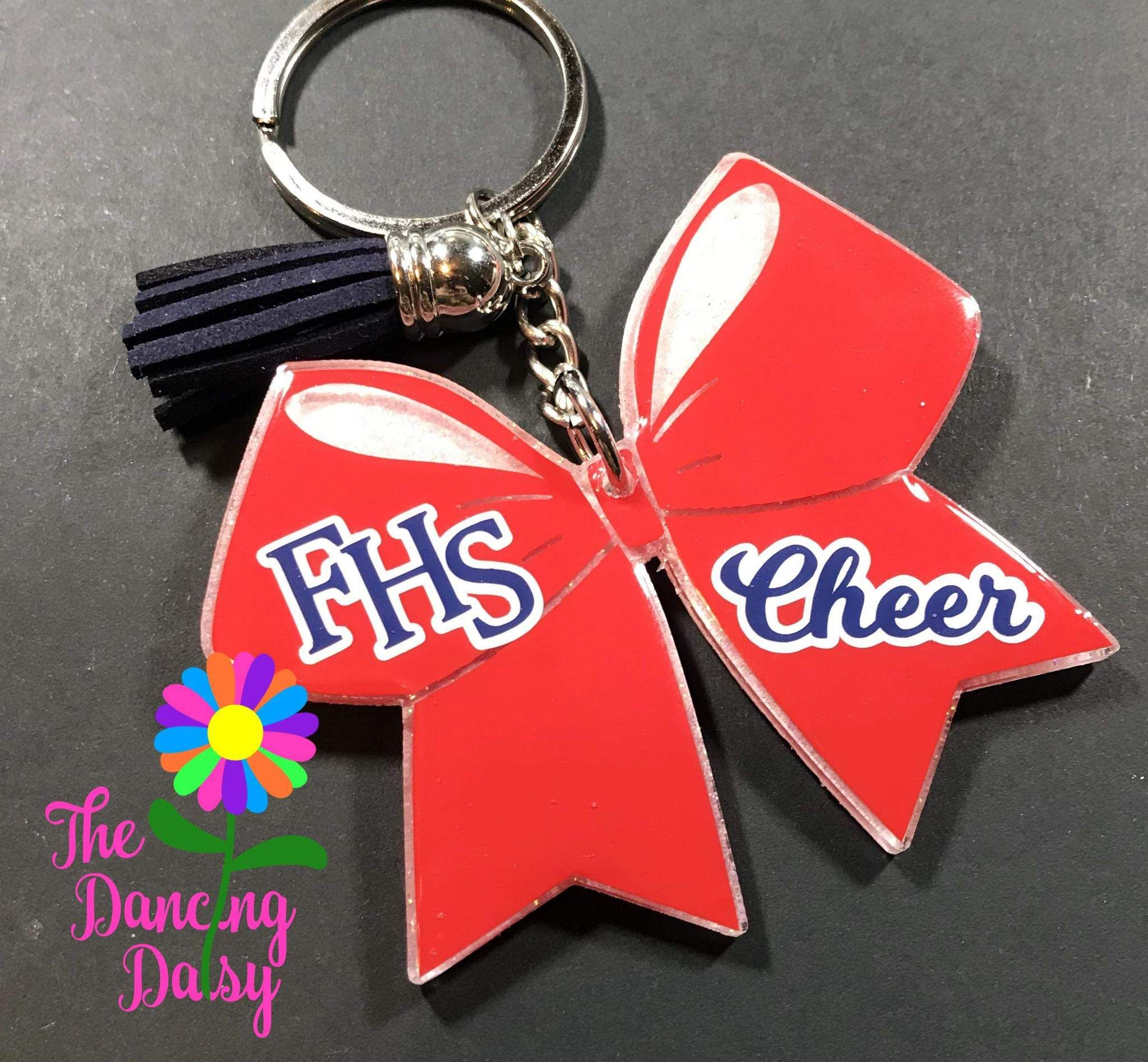 CHEERLEADER-RED Key Fobs really cute keychains