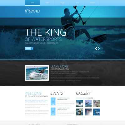 kitesurfing responsive website template website