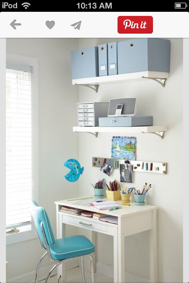 pin by marisa shevey on home kids desk space small home offices rh pinterest com