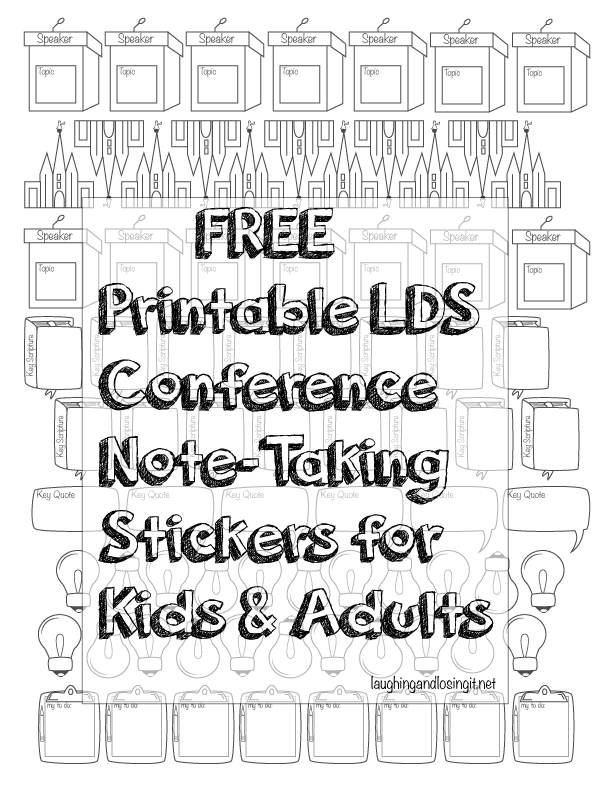 LDSConference #GeneralConference #Primary Printable colorable ...