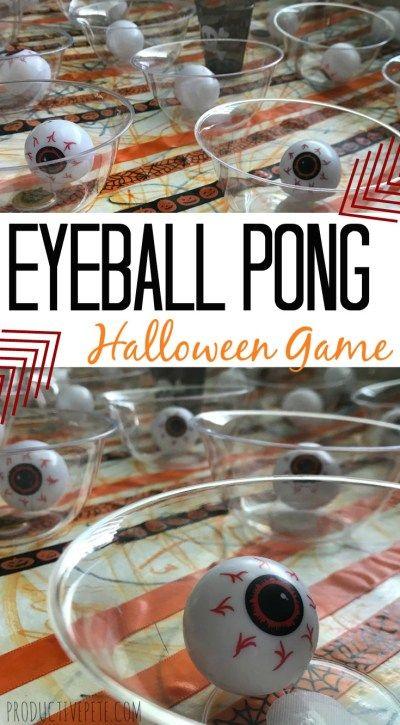 Eyeball Pong Halloween Game for Kids