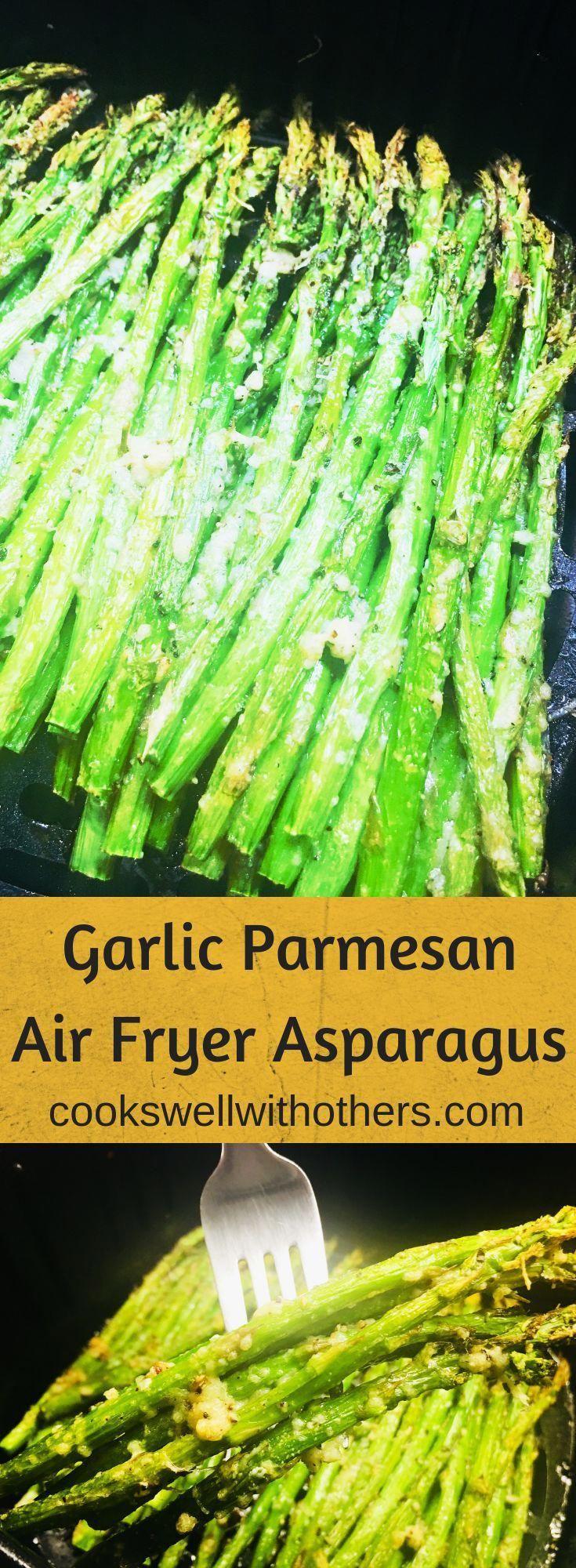 Garlic Parmesan Air Fryer Asparagus