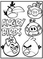 Angry Birds Coloring Pages Printable For Kids