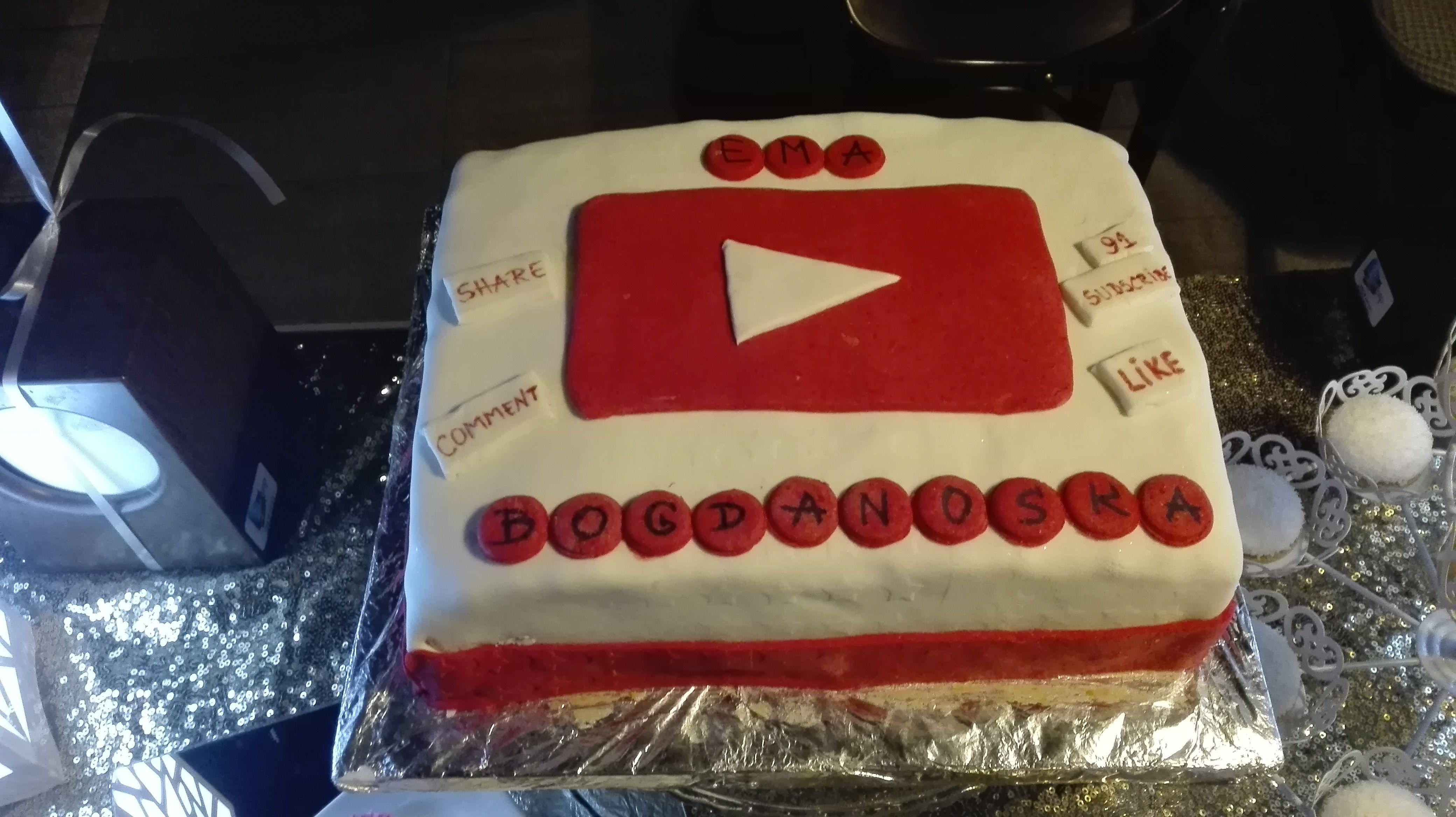 Cool Youtube Logo Birthday Cake With Images Youtube Logo Cake Funny Birthday Cards Online Unhofree Goldxyz