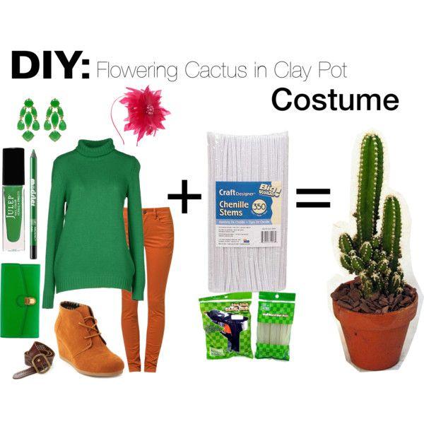 DIY: Flowering Cactus in Clay Pot Costume\