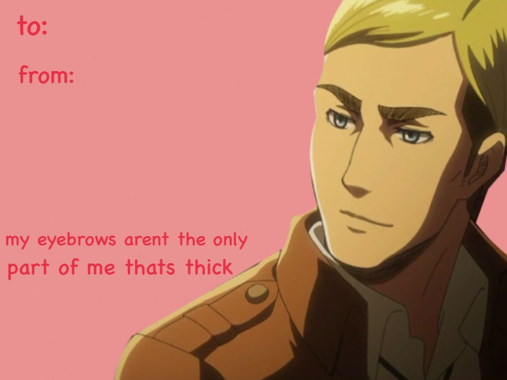 Valentines Day Cards  Attack on titan valentines cards