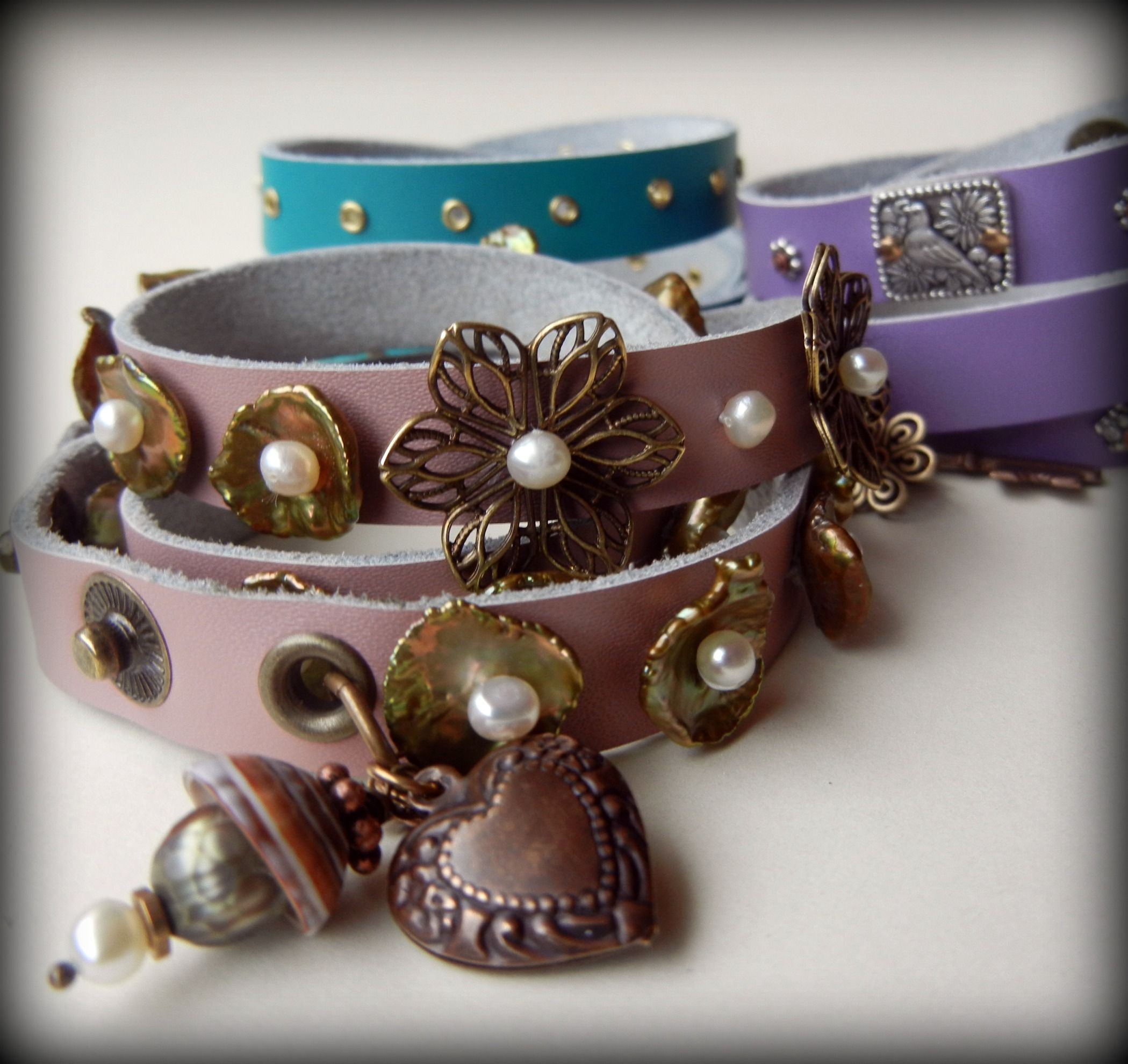 Leather strap wrap bracelets in bright new colors! – Rings and Things