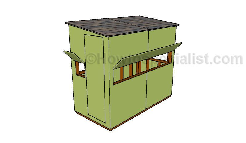 4x8 Deer Stand Plans Howtospecialist How To Build Step By Step Diy Plans Deer Stand Plans Shooting House Deer Stand