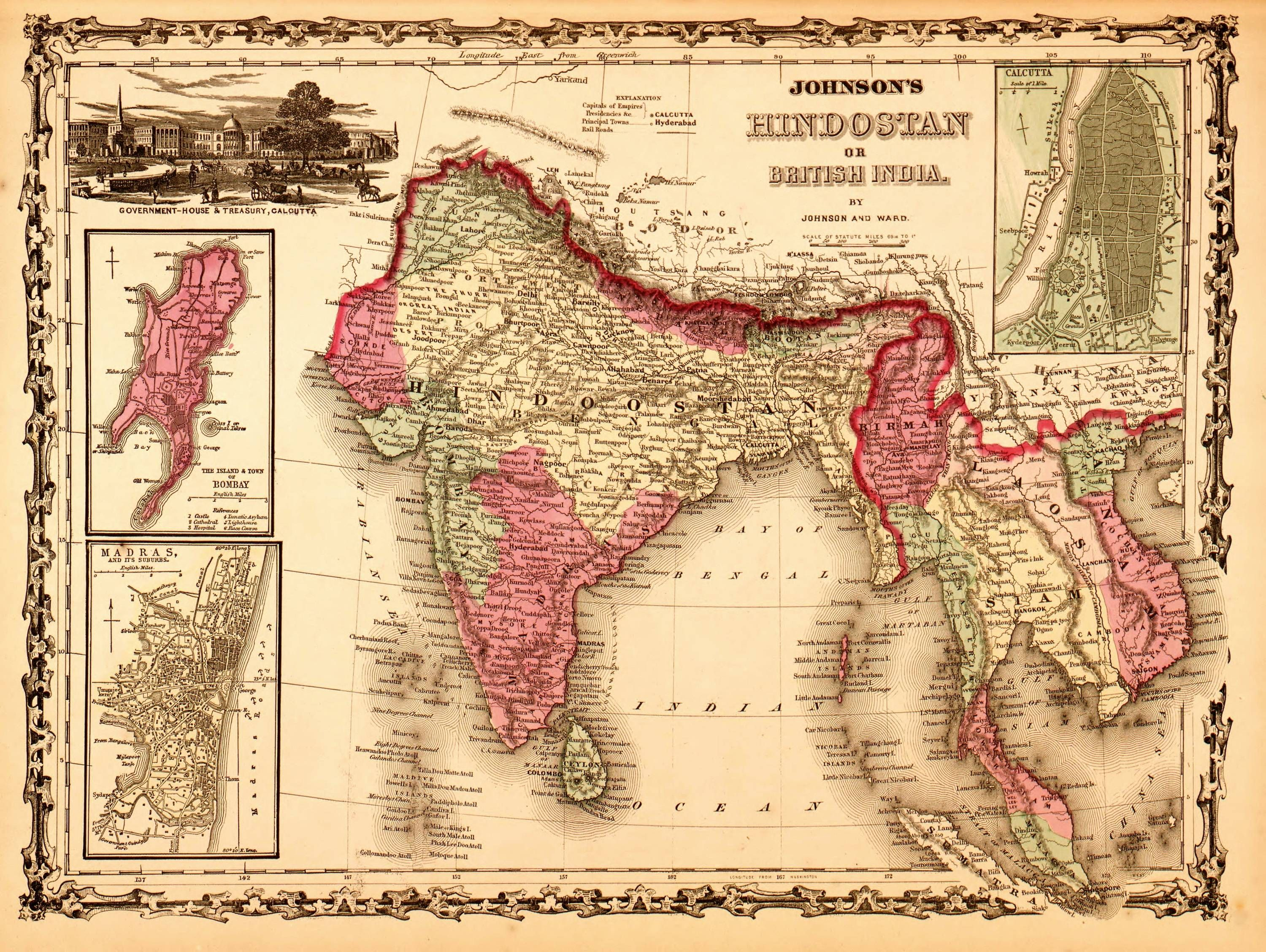 Political Map Of Southeast Asia%0A I realize it u    s too early but it u    s just too pretty not to post  Map of  British India      Dark Road To Darjeeling