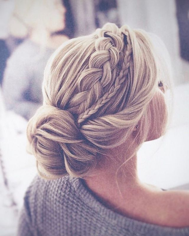 Braided Updo Hairstyles Pinterest Cabello Trenzas And