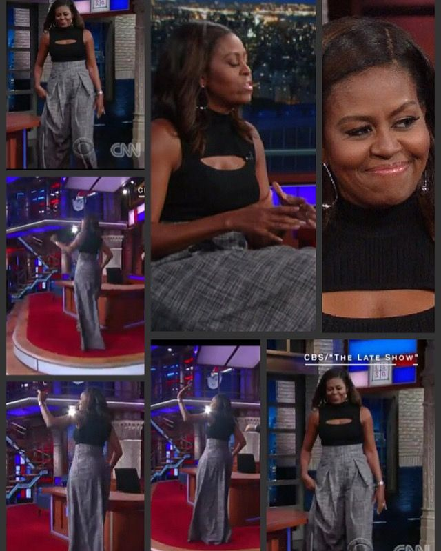 The #FirstLady Of The United States  #MichelleObama visited CBS' The Late Show with #StephenColbert #tonight #September20th #2016 and talks about life inside the White House, among other topics.