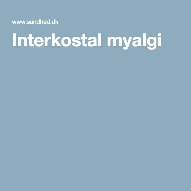 Interkostal myalgi
