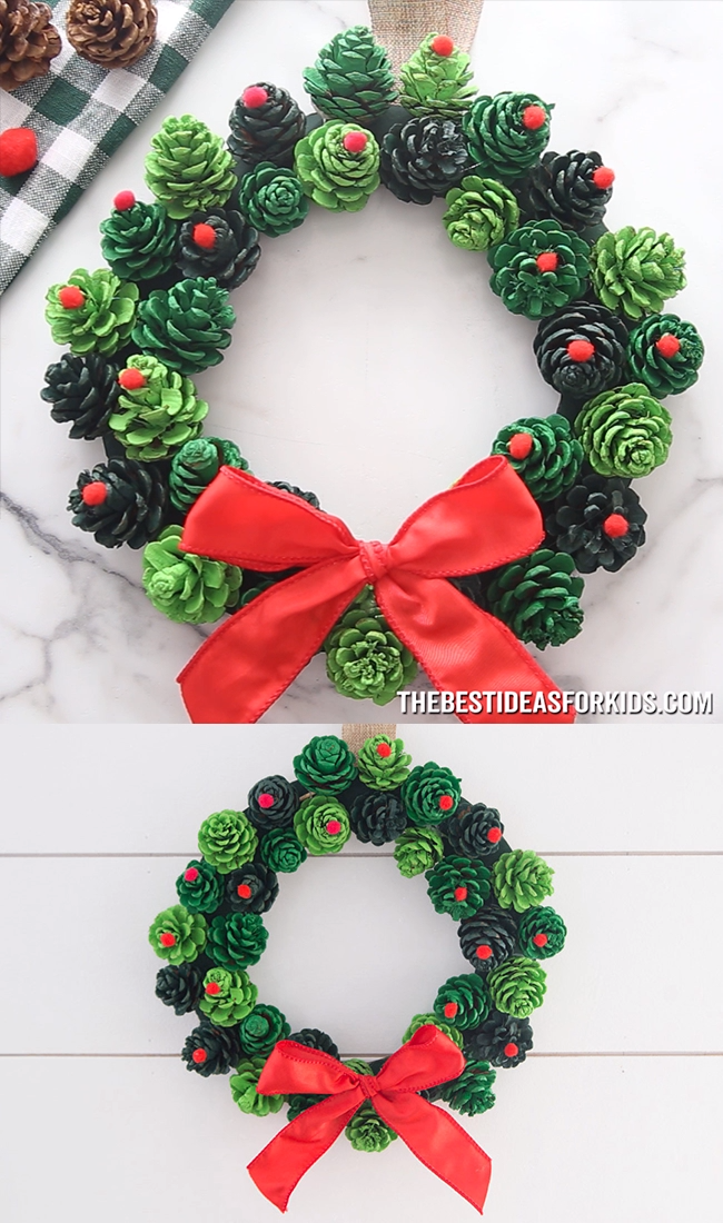 Photo of Fir cone wreath 🌲