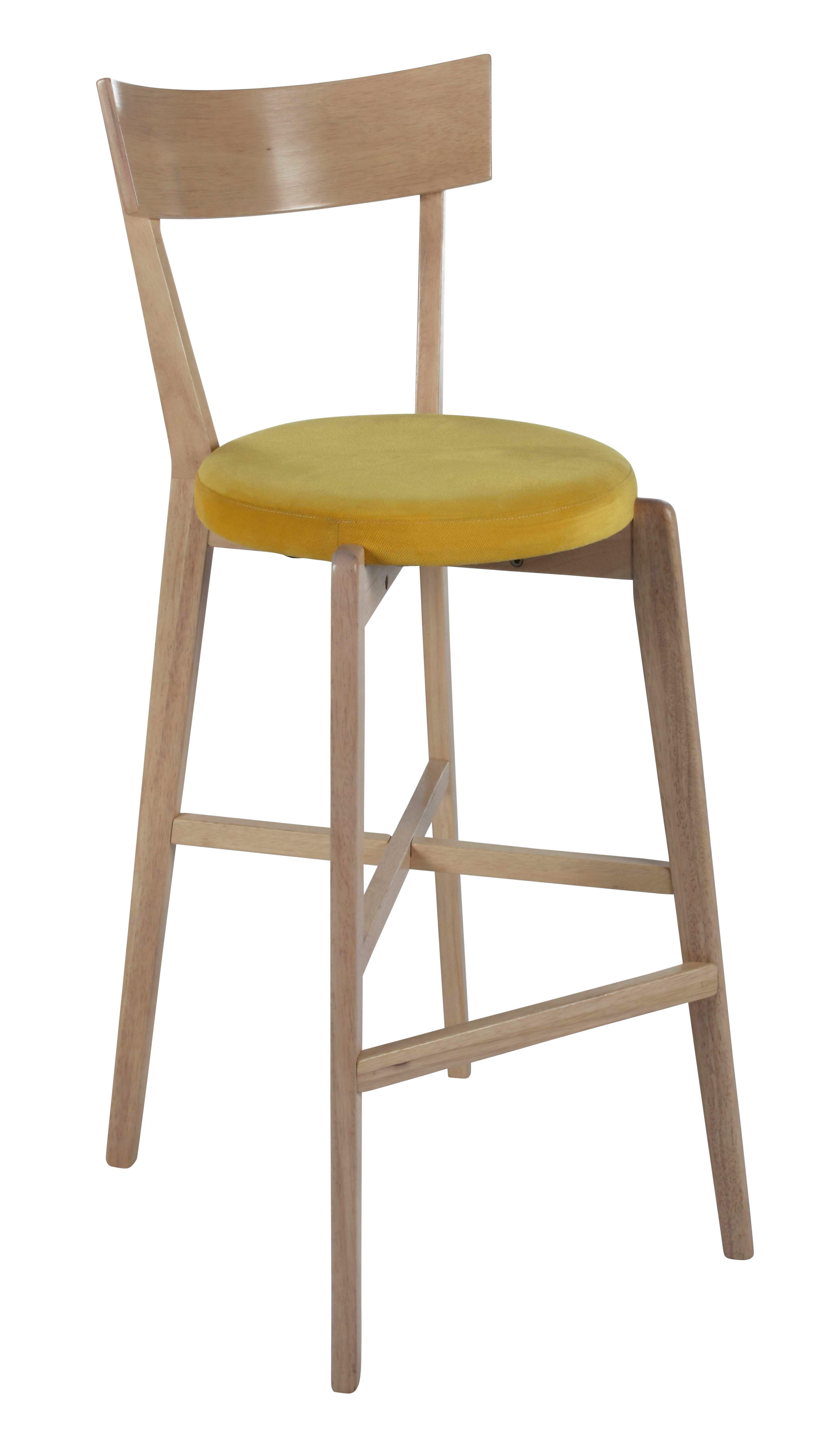 tabouret de bar h.79 cm lena jaune | bord de mer | tabouret, bar et