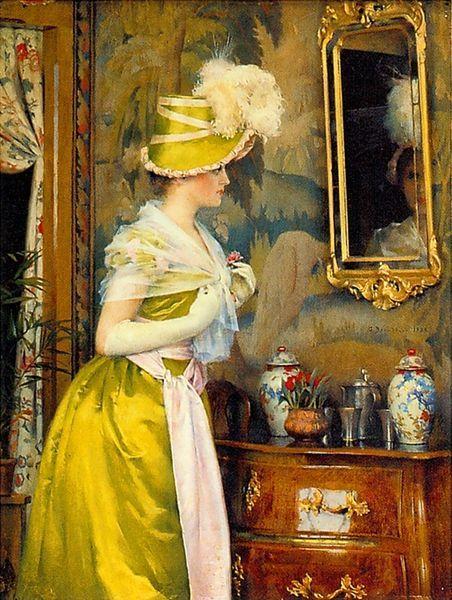"""Mirror"" 1889, Gunnar Berndtson (Finnish 1854-1895)"