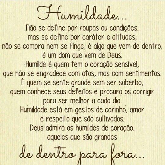Seja Humilde