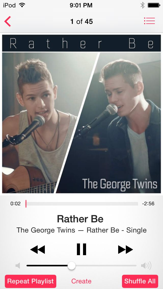 Todays song of the day is the george twins cover of rather be ill todays song of the day is the george twins cover of rather be ill put the link to the video and the link to buy the songs below let me know how ccuart