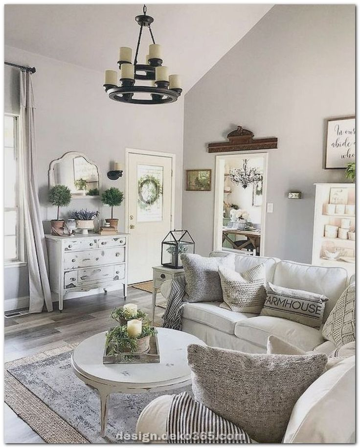 Luxuriose Moderne Wohnzimmerdekoration Und Elegantes Landhaus