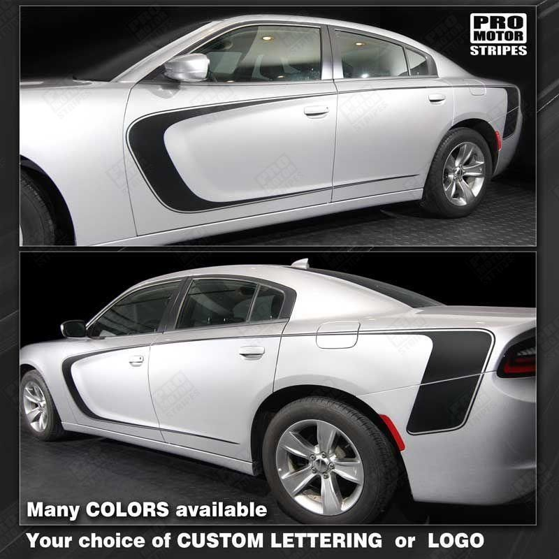 dodge charger 2011 2018 front to rear side accent stripes dodge rh pinterest co uk