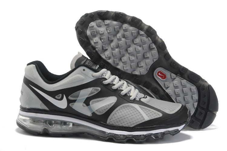 Air Max 2012 Mens Grey Black White