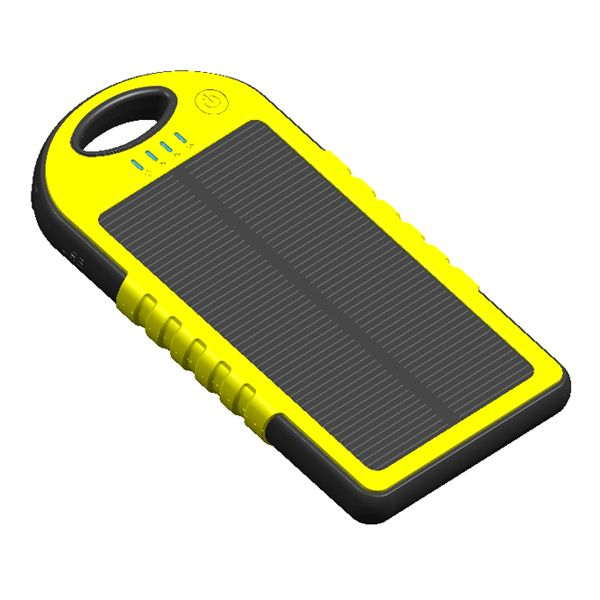 high quality solar panel portable 5000mah power bank charger http://www.dbl-red.com/