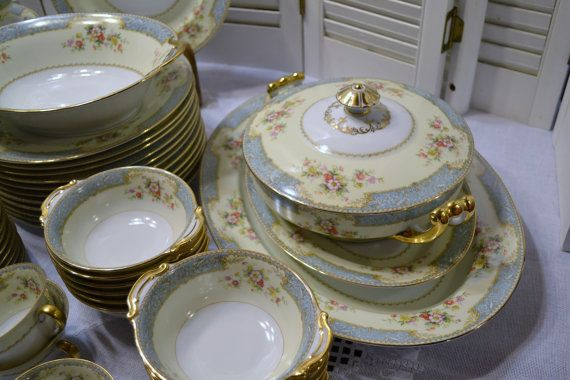 Vintage Noritake BlueDawn 622 Dinnerware Set 84 by PanchosPorch ...