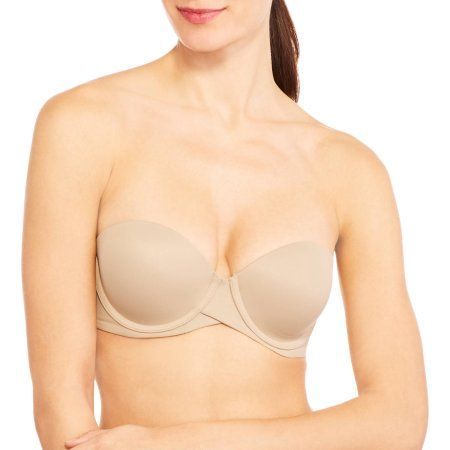 d98d9fe075 Maidenform Sweet Nothings Stay Put Strapless Push Up Underwire Bra ...