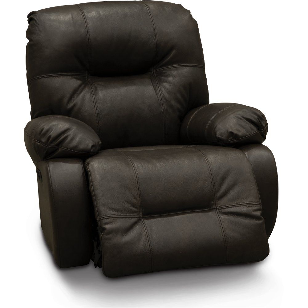 Dark Brown Leather Match Medium Scale Power Rocker Recliner   Brinley2 | RC  Willey Furniture Store