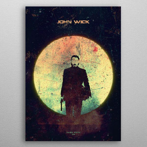 JOHN WICK Minimalistic Poster Print | metal posters - Displate | Displate thumbnail