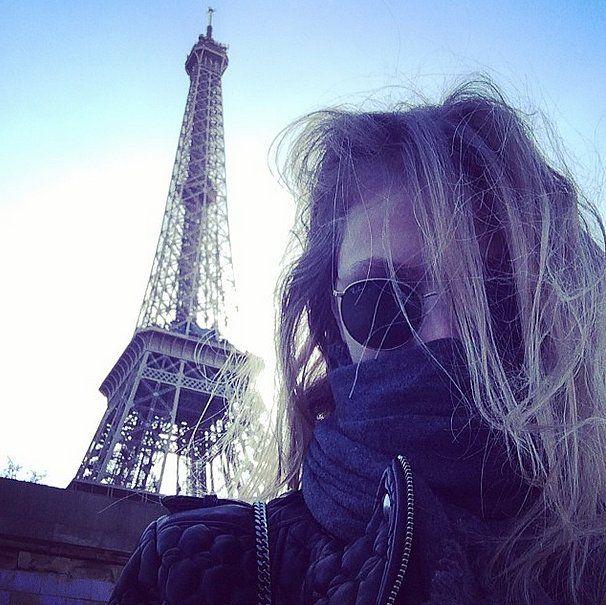 Constance was bundled up on an early morning outing.  Source: Instagram user constjablonski