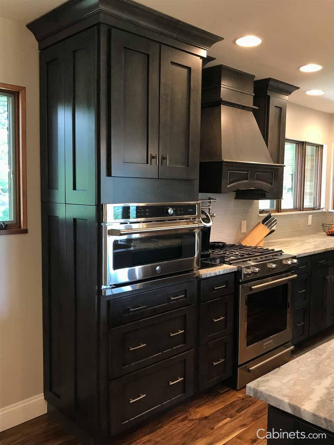 Shaker Ii Maple Slate Cabinets With Beautiful Crown Molding Shaker Style Kitchen Cabinets Shaker Style Cabinets Shaker Style Kitchens