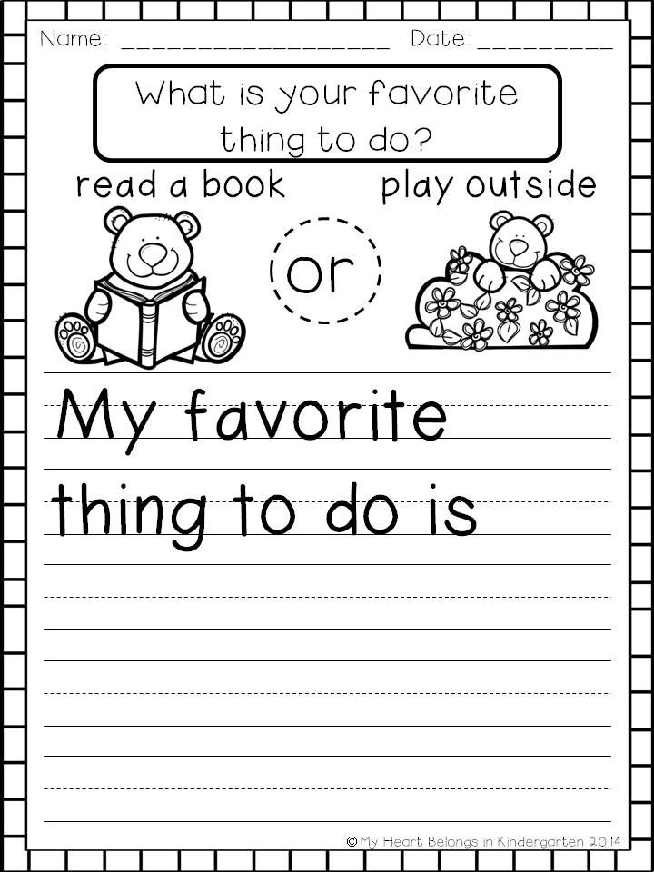 Opinion Writing FREEBIE | Kindergarten writing, Writing ...