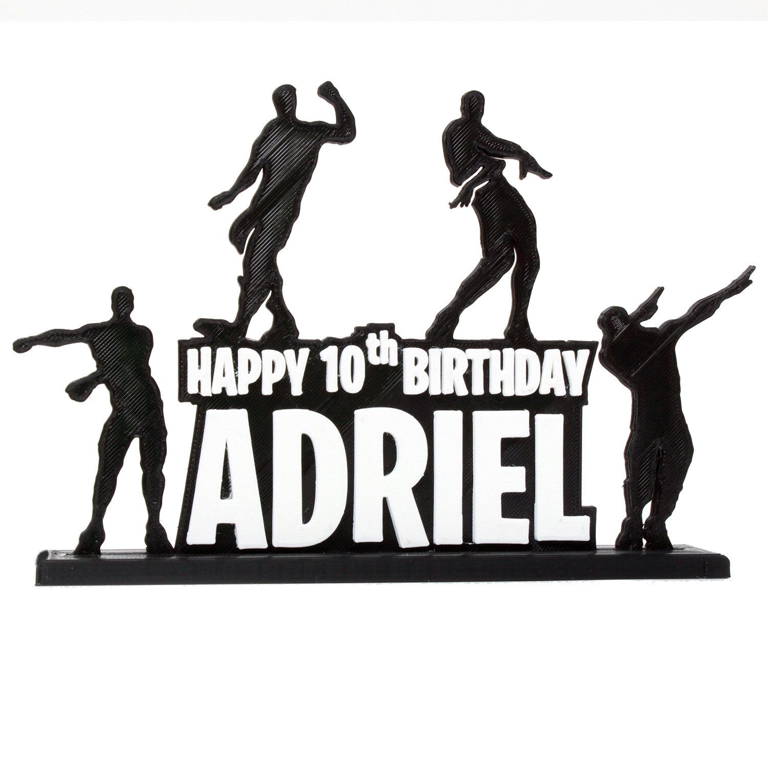 Custom Floss Dab Hype Orange Justice Happy Birthday Video Game Cake Topper With Personalized Name And Age Happy Birthday Video Video Game Cakes Birthday Gif