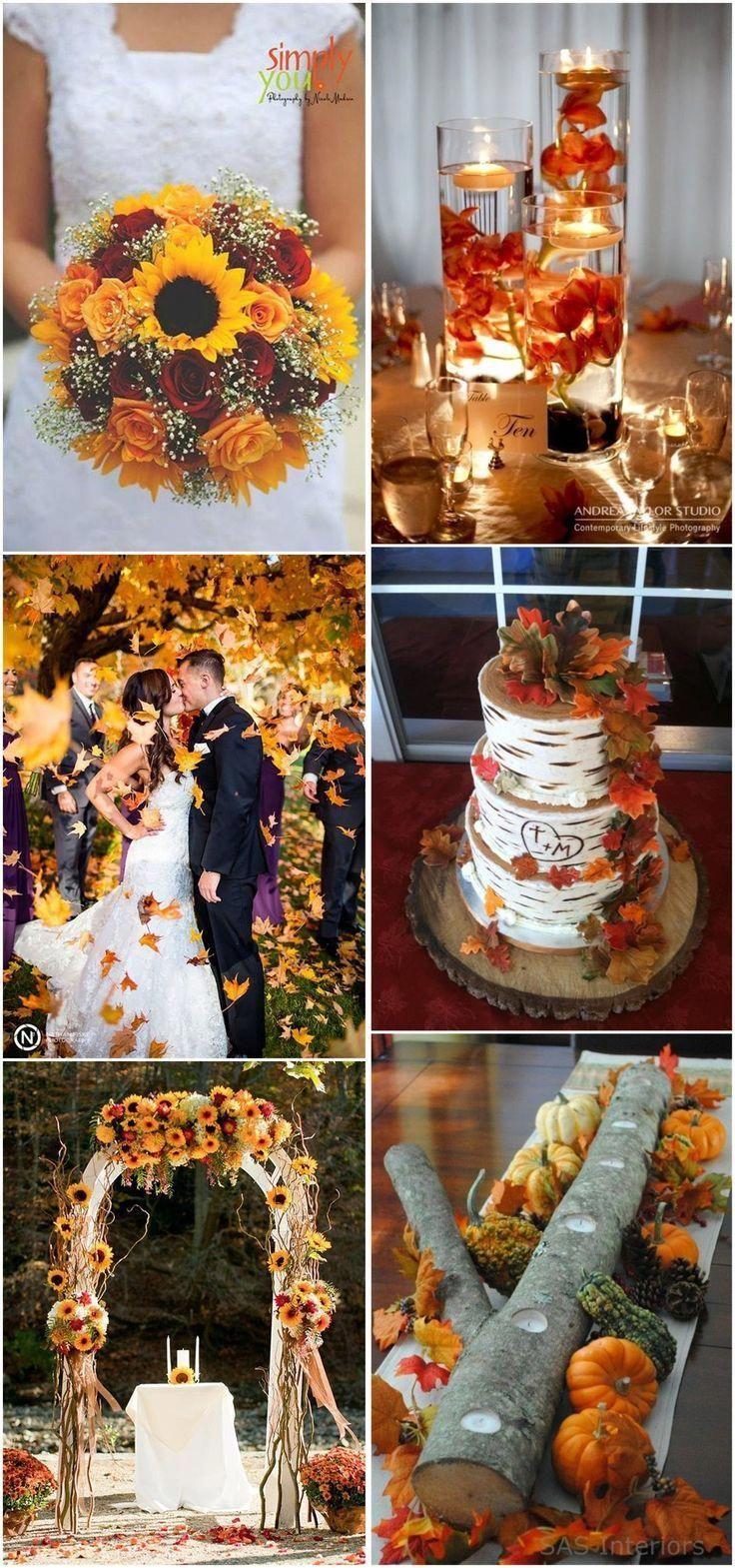 Fall wedding decoration #hochzeit herbst #fallweddingideas