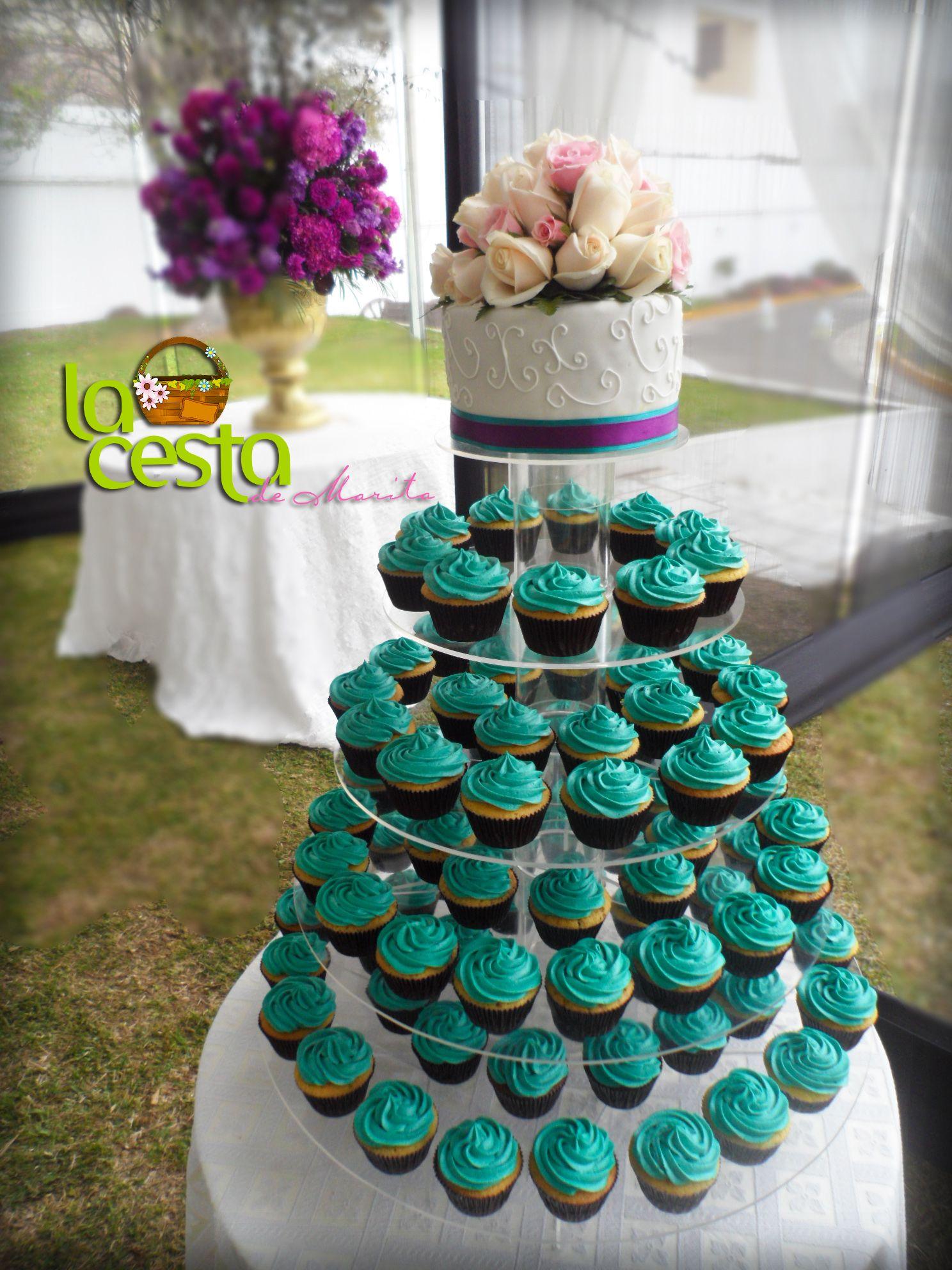 Wedding cupcakes de La Cesta de Marita