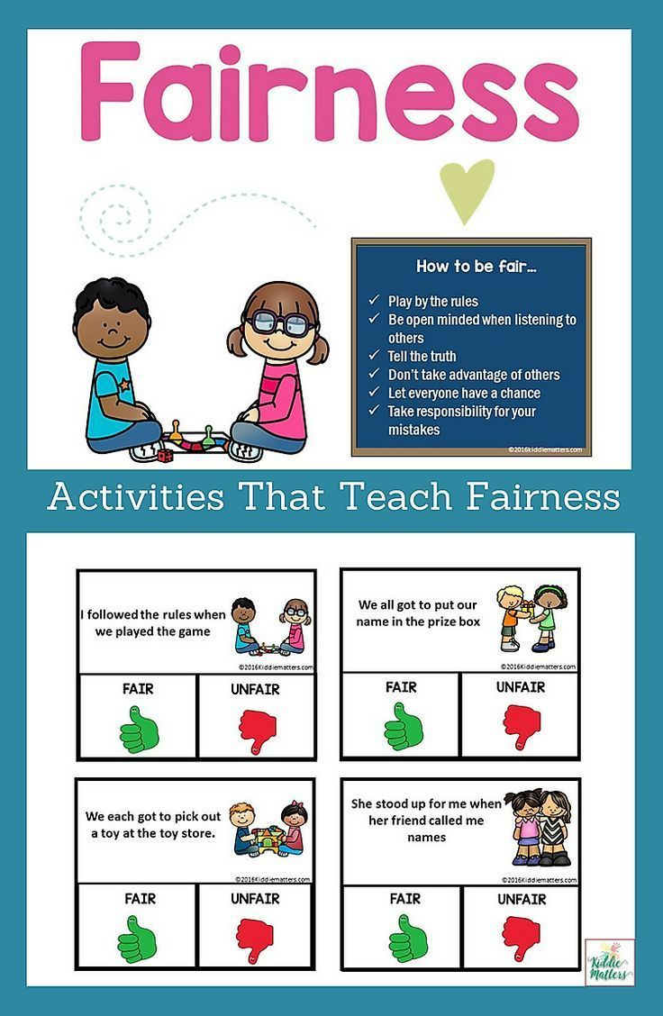 How Kids Learn Better By Taking >> Fairness Character Education And Social Skills Activities