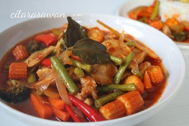 Ayam Paprik Ala Thai Recipes Resep Masakan Asia Resep Makanan India Masakan Malaysia