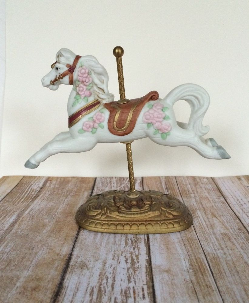 Homco Carousel Horse Vintage Home Interior Porcelain Masterpiece Figurine 1438 Vintage Wall Decor Home Interiors And Gifts House Interior