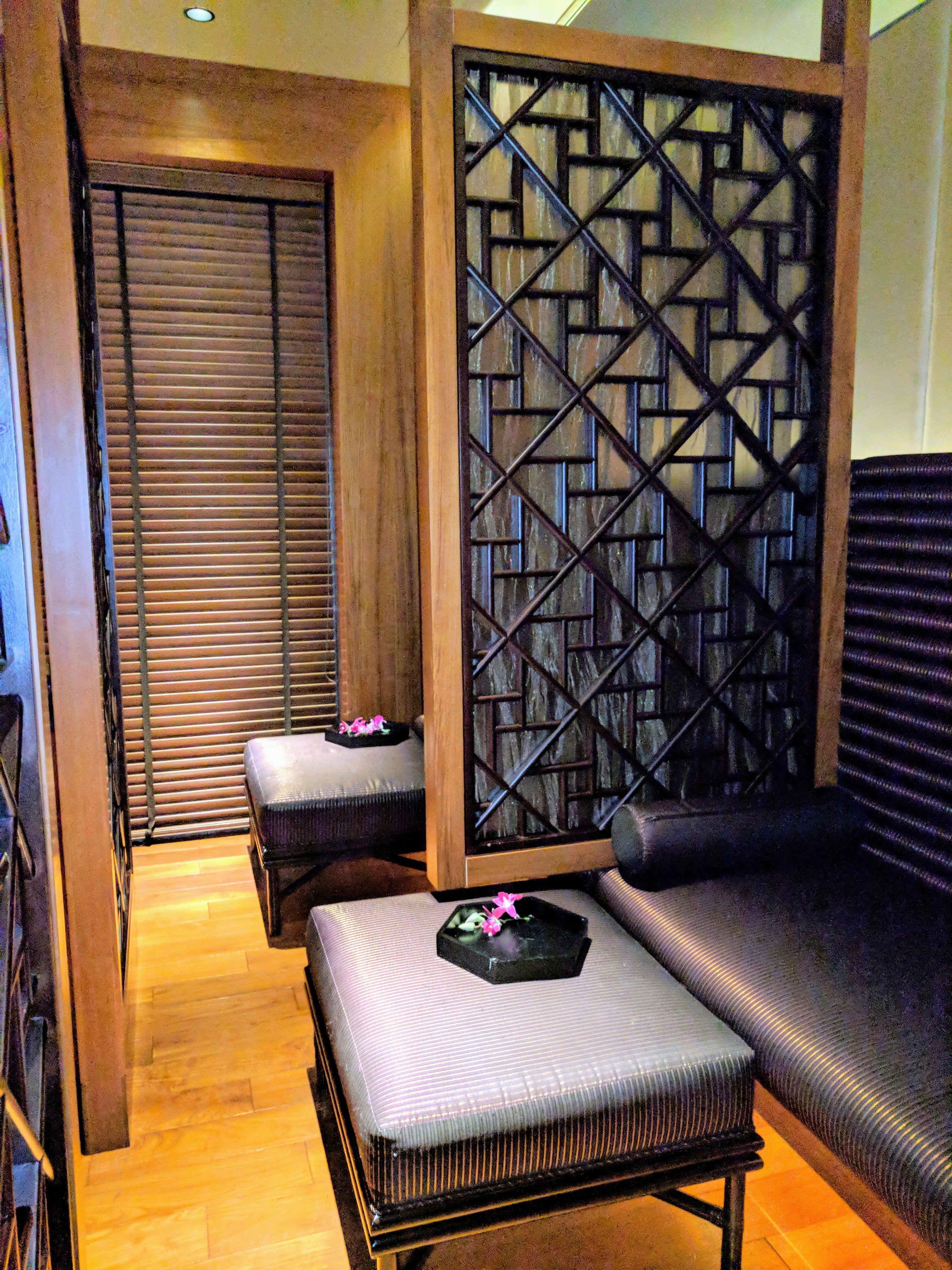 Zen like interior of beautiful relaxation room